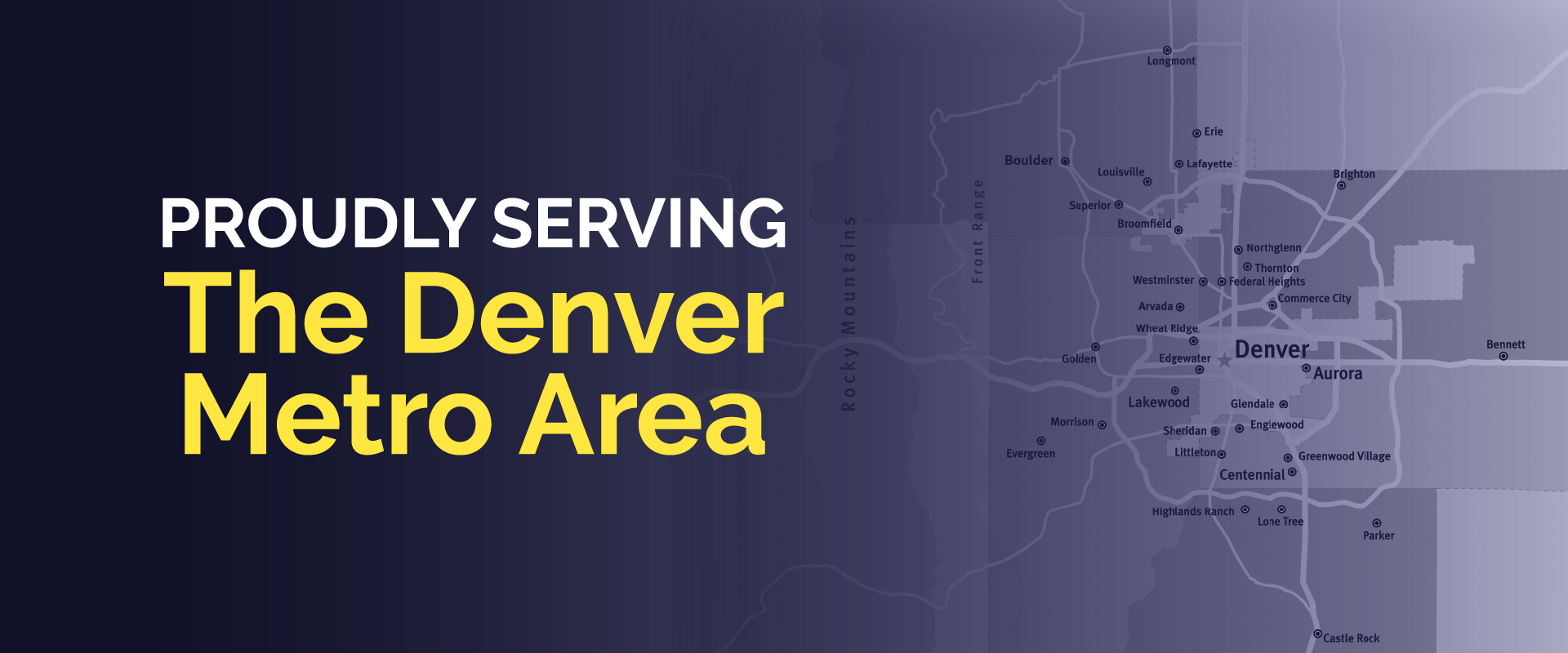 UHC Denver metro area service map